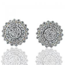 stud earrings for women ctw diamond stud earrings womens 14k yellow gold shaped