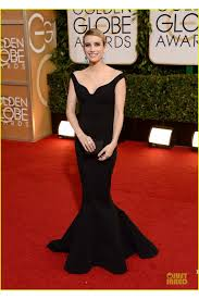 roberts 2014 golden globe awards black off the shoulder mermaid