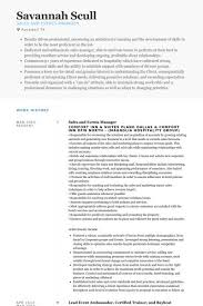 event manager resume planner resume example events manager