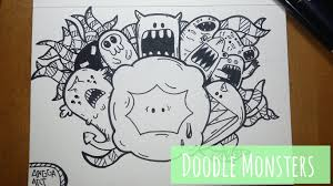 doodle graffiti monster funky graffiti doodle monsters wall mural