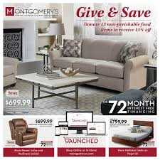 Td Furniture Outlet by Current Promotions Montgomery U0027s Furniture Flooring And Window
