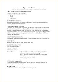 Simple Form Of Resume 100 References Of Resume Career Change Resume Objectives