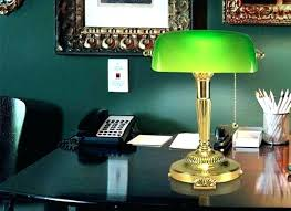 antique green bankers l green desk l lime green desk l shade glass all home ideas and