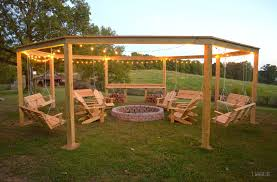 octagon fire pit swing plans home