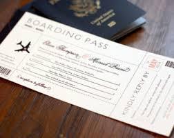 boarding pass invitations passport wedding invitation set boarding pass wedding rsvp