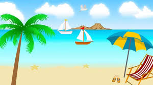 animated clipart of beach scenes clipart collection cartoon