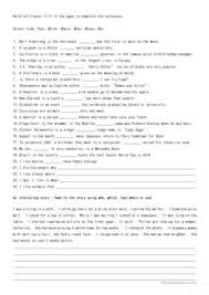 63 free esl relative pronouns worksheets