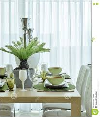 Green Color Scheme by Dining Room Modern Ceramic Tableware In Green Color Scheme