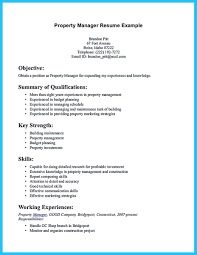 Construction Project Manager Resume Objective Property Manager Resume Free Resume Example And Writing Download