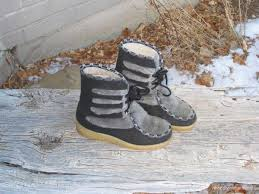 womens winter boots size 11 clearance chicorigins womens boots black and grey fur winter mukluks ankle