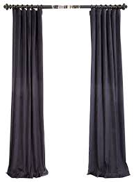 Blue And Grey Curtains Ombre Blue Grey Vintage Cotton Velvet Curtain Single Panel