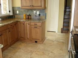 kitchen floor tile ideas with oak cabinets small 9 on kitchen