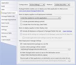 walkthrough deploying a web application project using a web