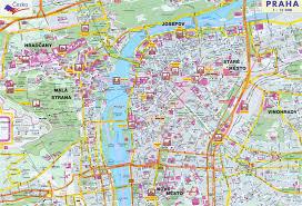 Prague Metro Map by Maps Of Prague Detailed Map Of Prague In English Maps Of