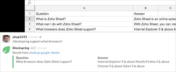 How To Do A Simple Spreadsheet Blockspring Tutorials U2013 Build A Q A Bot Using A Spreadsheet