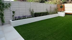 render walls planting small garden design painted fence london