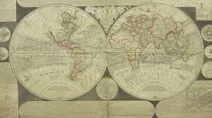 Blank Hemisphere Map by Thomas Bowles London Double Hemisphere Map Of World C1725 Inc