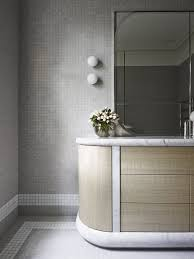 sydney heritage house bathroom with soft grey and white glass