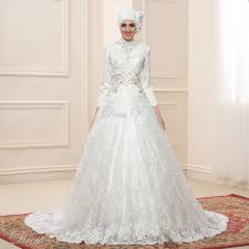 wedding dress muslim aliexpress buy lace gown sleeve muslim wedding