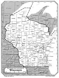 Wisconsin Counties Map by All About Genealogy And Family History Map Of Wisconsin