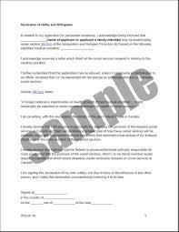 Canada Resume Sample Declaration In Resume Sample Resume For Your Job Application