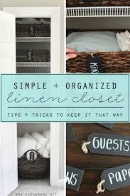 a simple organized linen closet clean mama