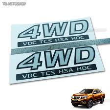 nissan navara australia 2015 grey sticker rear 4wd vdc tcs tail decal for nissan navara np300