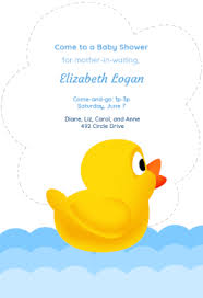 duck baby free printable baby shower invitation template