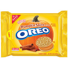 halloween pop tarts amazon com oreo seasonal pumpkin spice sandwich cookies 12 2 ounce