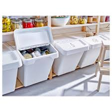 sortera recycling bin with lid 10 gallon ikea