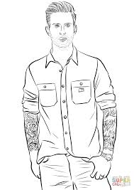 adam levine from maroon 5 coloring page free printable coloring