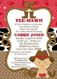 western theme baby shower invitations iidaemilia
