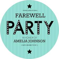 farewell party invitation turquoise stripe farewell party invite going away party