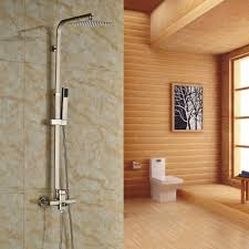 Wall Mount Faucets Bathroom Brushed Nickel Wall Mounted Faucet For Shower In A Contemporary