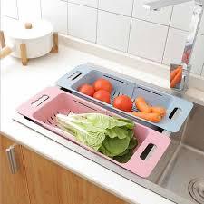 Kitchen Sink Displays Aliexpress Buy Fruit Vegetable Washing Draining Storage
