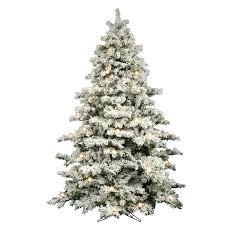 flocked christmas tree the aisle flocked alaskan 9 white artificial christmas tree