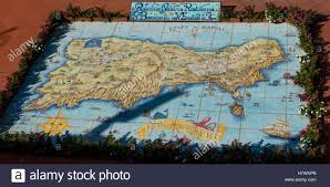 Capri Italy Map by Map Of The Island Of Capri Capri Campania Italy Stock Photo