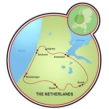 netherlands beaches map villages and beaches of bike tour netherlands tripsite