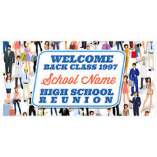 high school reunion banners welcome to school reunion banner personalized backdrop decoration