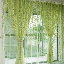 Green Sheer Curtains Aliexpress Buy 1pcs Green Willow Sheer Curtain For Living