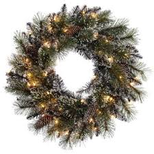 buy decorative pre lit wreaths from bed bath beyond