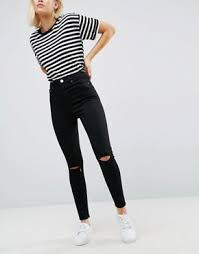 Skinny Jeans With Holes Womens Ripped Jeans Destroyed U0026 Busted Knee Jeans Asos