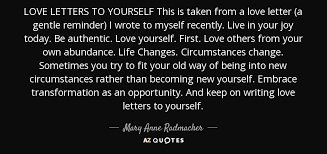 radmacher quote letters to yourself this is taken