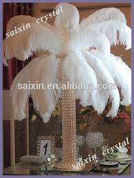 Ostrich Feather Centerpiece Beautiful White Ostrich Feather Centerpieces Wedding Decoration
