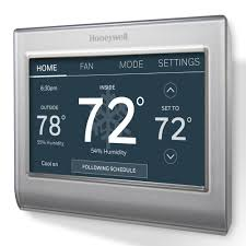 honeywell smart wi fi 7 day programmable color touch thermostat