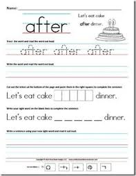 free worksheets kindergarten primer sight word sentences