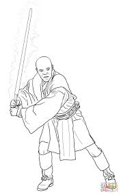 mace windu coloring free printable coloring pages