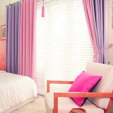 Pink And Purple Curtains Korean Purple Pink Blackout Curtains For Living Room Kitchen