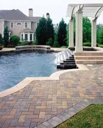concrete paver pool decks rock stone u0026 sand yard