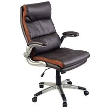 Executive Brown Leather Office Chairs Ergonomic High Back Executive Computer Chair Office Chairs